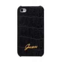 Чехол GUESS Croco Mat Back Cover BLACK для iPhone 4/4S
